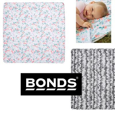 Bonds Baby Girls Boys Newbies Cotton Printed Muslin Wrap Blanket Boy Girl Byaqa