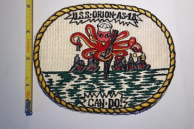 Extremely Rare 1950's USS ORION (AS-18)  Fulton-Class Submarine Tender Patch!!!