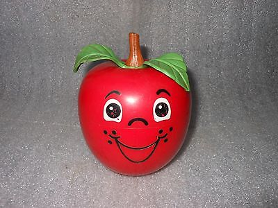 Vintage 1972 Fisher Price HAPPY APPLE Chime Musical Baby Toy ~ USA Made