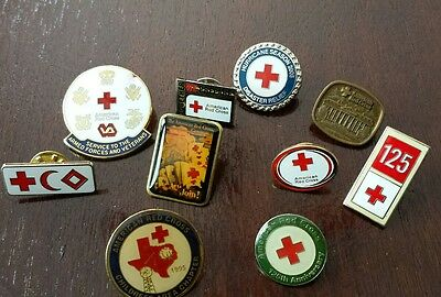 Lot of 7 American Red Cross Chapter Hurricane 2005 PINS Texas Chapter