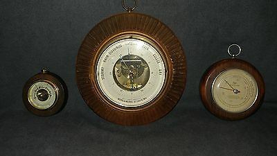 Vintage Lot of 3 Barometers (Taylor Baroguide, Made in Germany & West Germany)