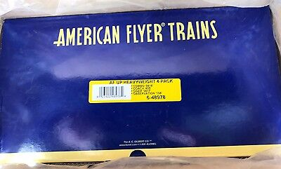 American Flyer 6-48978 Union Pacific HeavyWeight 4-Pack NIB/Shipping Carton