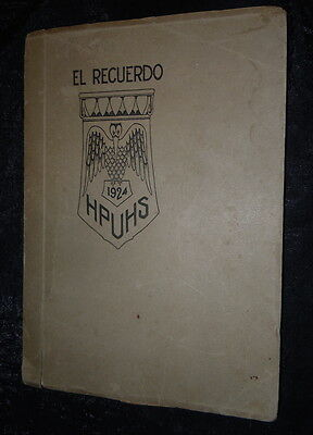 Huntington Park Union High School California 1924 Yearbook + Guides Diploma etc