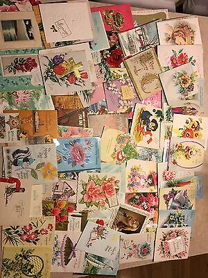 Vintage Antique Greeting Cards (Lot Of Approx 75)