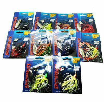 2x 13.5g Spinnerbaits Barra Spinner Baits Lures Lure Tackle Cod Bass Perch NEW