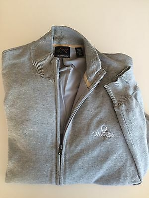 GOLF OMEGA MASTERS CRANS MONTANA Windproof Cardigan -Greg Norman Brand -Like NEW