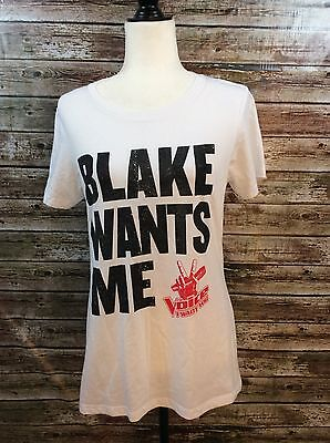 The Voice Women's XL Blake Wants Me T-Shirt Official Licensed Merchandise White