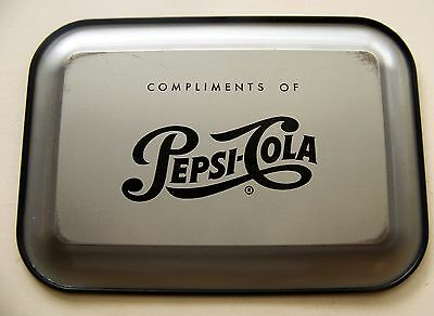 Pepsi Cola metal tip tray with picture of flowers roses Vintage soda advertising