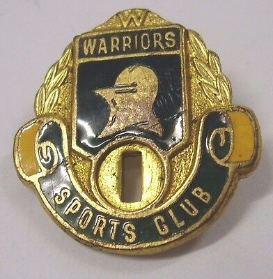 Vintage Warriors Sports Club Enamel Member Badge Pin