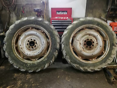 leyland tractor 2 back wheels and tyres