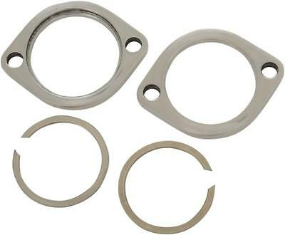 DS Exhaust Flange Kit Stainless Steel Polished Harley XL1200N Nightster 07-12