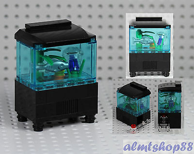 LEGO - Aquarium Fishtank w/ Jellyfish Fish Food Minifigure Animal Ocean Water