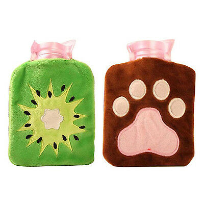 Mini Hot Water Bottle Plush Hand Warmer Winter Hot Water Bag K4L8