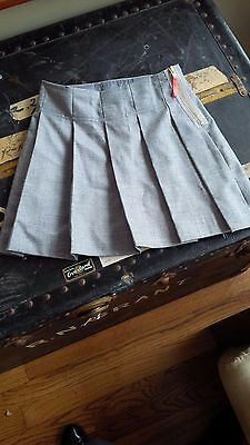 Crewcuts grey wool skirt girls size 6 lined adjustable waist LKNW