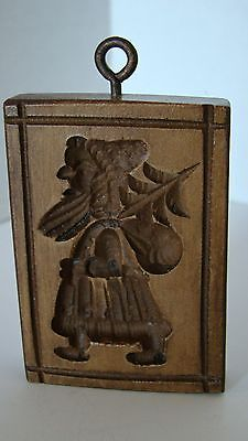 Springerle Mold Hand Made In Switzerland - Santa With Bag And Tree