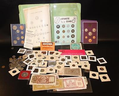 LOT FOREIGN COINS AND CURRENCY INCLUDING JAPAN, 1980 IRISH PROOF SET,... Lot 692