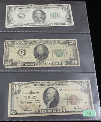 SERIES 1934 ONE HUNDRED DOLLAR FEDERAL RESERVE NOTE, SERIES 1928 TWEN... Lot 368
