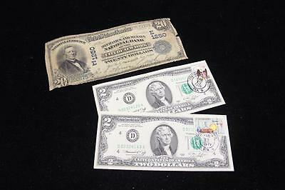 TWENTY DOLLAR MECHANICS AND METALS NATIONAL BANK OF NY LARGE NOTE AND... Lot 480