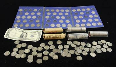 LOT JEFFERSON (SOME SILVER WAR) AND BUFFALO NICKELS INCLUDING WHITMAN... Lot 839