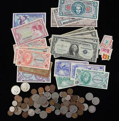 MIXED LOT INCLUDING SERIES 1934 TWENTY DOLLAR FEDERAL RESERVE NOTE, S... Lot 288