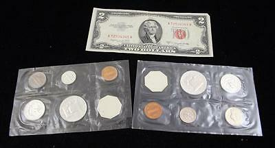 1961 AND 1962 U.S. PHILADELPHIA MINT P.C. SETS (NO ENVELOPE) AND TWO ... Lot 612
