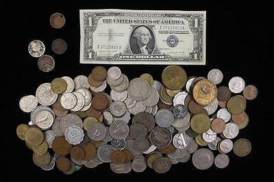 MIXED LOT INCLUDING SERIES 1957 ONE DOLLAR SILVER CERTIFICATE, FOREIG... Lot 287