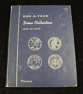 WHITMAN DIME COLLECTION ALBUM INCLUDING MERCURY AND ROOSEVELT DIMES Lot 424