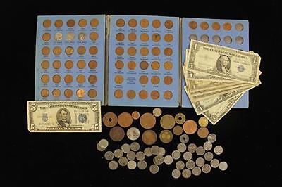 MIXED LOT INCLUDING SERIES 1934 FIVE DOLLAR SILVER CERTIFICATE, (3) S... Lot 277