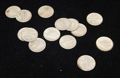 †14 MERCURY AND ROOSEVELT DIMES *tax exempt* Lot 921