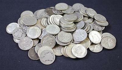 †98 BARBER, MERCURY, AND ROOSEVELT SILVER DIMES *tax exempt* Lot 502