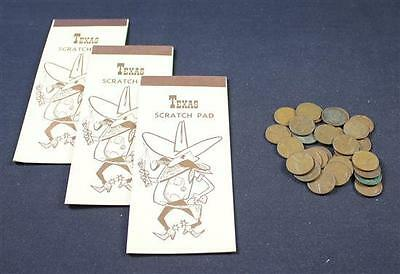 3 TEXAS SCRATCH PADS WITH 5 ONE DOLLAR FEDERAL RESERVE NOTES EACH (TO... Lot 736