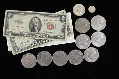SERIES SERIES 1953 TWO DOLLAR RED SEAL NOTE, SERIES 1957 ONE DOLLAR S... Lot 280