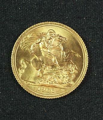 †1966 BRITISH SOVEREIGN .9167 FINE, 7.98g *tax exempt* Lot 530