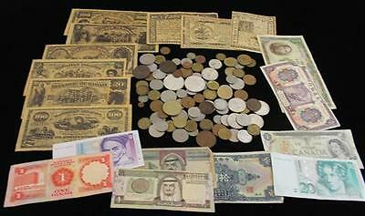 LOT FOREIGN COINS AND CURRENCY INCLUDING CHINA, SAUDI ARABIA, AND CAN... Lot 630