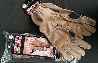 Rothco Special Forces Tactical Gloves  Tan   Sz Large   Paint Ball             1