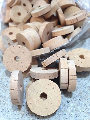 """Cork Rings Flor Grade, 1 1/4"""" x 1/4"""" x1/4"""" Hole , 40 Rings, Save!"""