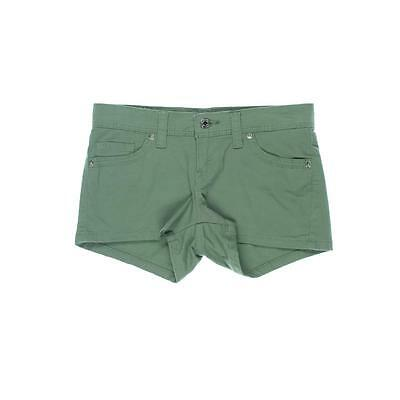 Levi's 8072 Womens Green Twill Low-Rise Stretch Casual Shorts Juniors 3 BHFO