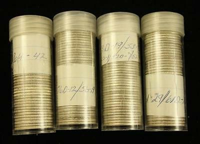 †4 COIN TUBES WASHINGTON SILVER QUARTERS *tax exempt* Lot 1500