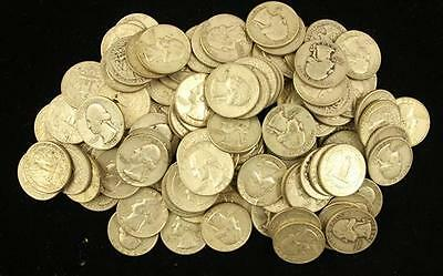 †121 SILVER QUARTERS, MOSTLY WASHINGTON *tax exempt* Lot 1595