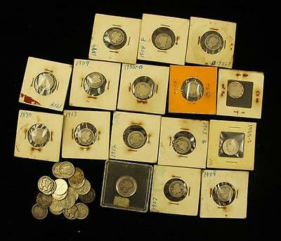 †34 SEATED LIBERTY, BARBER, MERCURY, AND ROOSEVELT SILVER DIMES *tax... Lot 1560