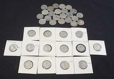 †37 WASHINGTON SILVER QUARTERS *tax exempt* Lot 2050