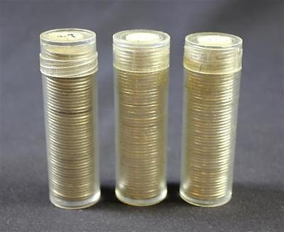 †2 COIN TUBES 1963P ROOSEVELT SILVER DIMES BU AND 1 TUBE MERCURY AND... Lot 1720