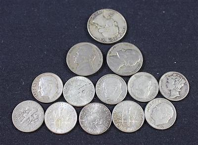 MIXED LOT INCLUDING WASHINGTON SILVER QUARTER, ROOSEVELT AND MERCURY... Lot 1798