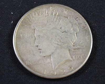 †1922S PEACE SILVER DOLLAR *tax exempt* Lot 1789