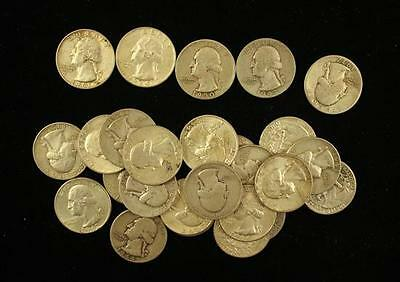 †26 WASHINGTON SILVER QUARTERS *tax exempt* Lot 1598