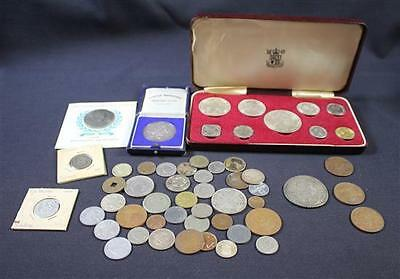 MIXED LOT FOREIGN COINS INCLUDING 1966 BAHAMAS ISLANDS ROYAL MINT SE... Lot 1809