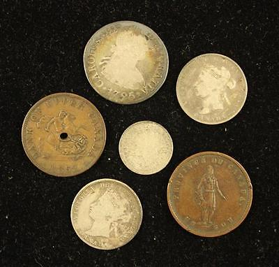 MIXED LOT FOREIGN COINS INCLUDING 1795 SPANISH 4 REALE Lot 1362