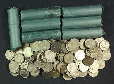 LOT LIBERTY V, BUFFALO AND JEFFERSON NICKELS INCLUDING 7 ROLLS AND L... Lot 1347