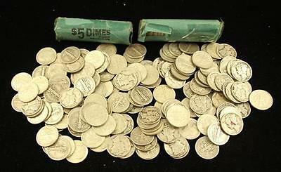 †254 SILVER DIMES INCLUDING 1914D BARBER, MERCURY, AND ROOSEVELT *ta... Lot 1719