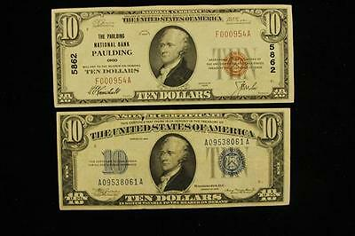 TEN DOLLAR NATIONAL CURRENCY NOTE, PAULDING NATIONAL BANK OHIO 5862 ... Lot 1288